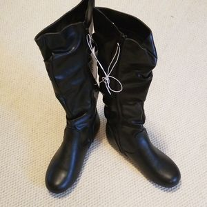 NWT Enzo Tall Zip Fashion Boots Size 7